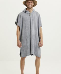 Knowledge Cotton Apparel Surf Hoodie Towel Total Eclipse