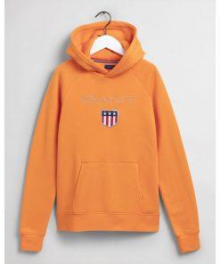 Gant Teens Shield Hoodie Russet Orange