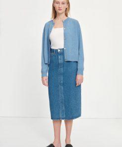 Samsoe & Samsoe Silvia Long Skirt Mid Blue
