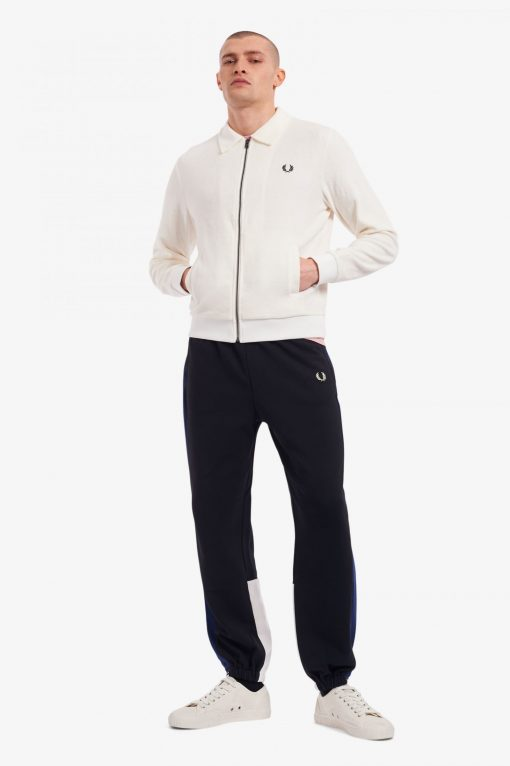 Fred Perry Towelling Track Jacket White