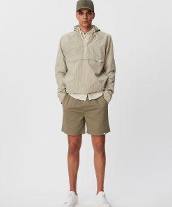Les Deux Otto Cotton Shorts Lichen Green