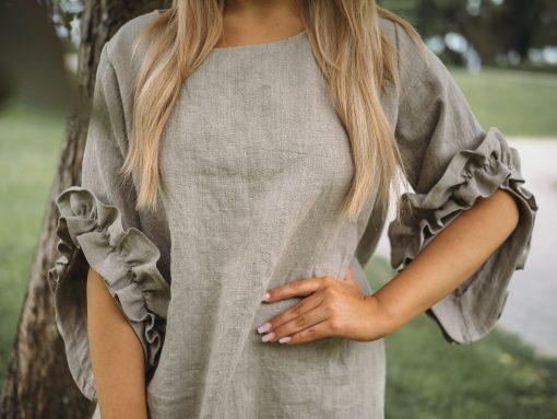 Pura Linen Swan Dress Linen