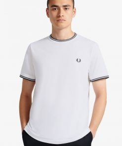 Fred Perry Twin Tipped T-shirt White