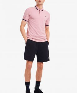 Fred Perry Skip to the beginning of the images gallery Abstract Tipped Polo Shirt Chalk Pink