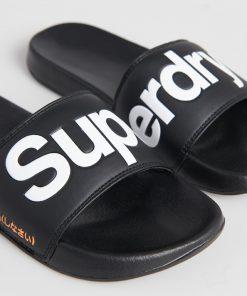 Superdry Classic Pool Sliders Black
