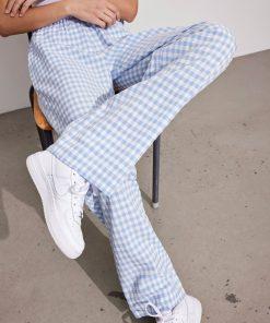 Envii Encoriander Pants Sky Blue Check