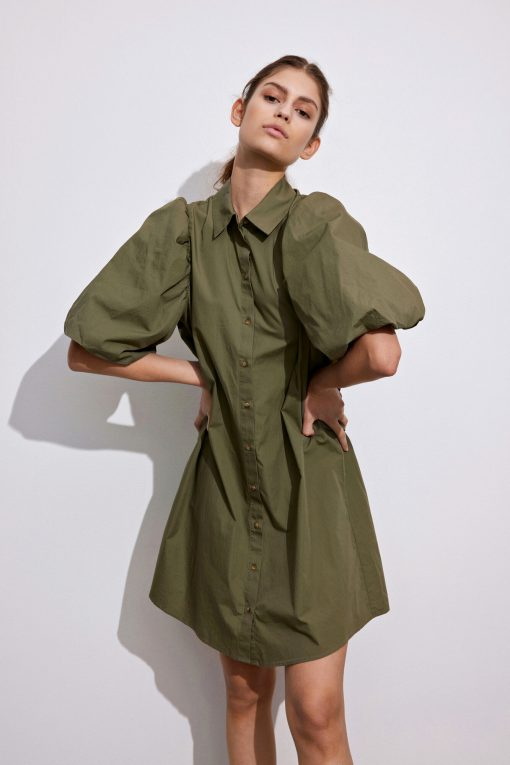 Envii Enguldberg Dress Deep Lichen Green