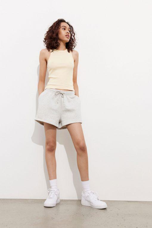 Envii Entansy Shorts Logo Light Grey Melange