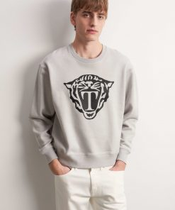 Tiger Jeans Zoab Pr Emb Sweatshirt Smoke