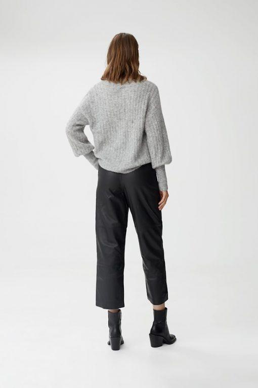 Gestuz Alpiagz Pullover High-Rise Grey Melange