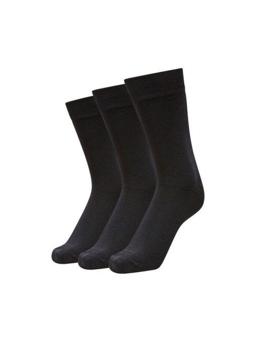 Selected Homme 3-Pack Cotton Socks Black