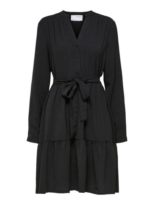 Selected Femme Mivia Short Dress Black