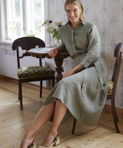 Balmuir Lena Linen Skirt Khaki