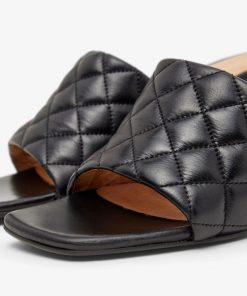 Biabeonna Quilt Sandals Black