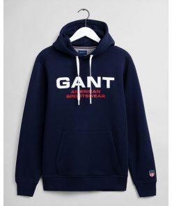 Gant Retro Shield Sweat Hoodie Classic Blue