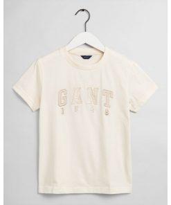 GANT Teen Girls 1949 T-Shirt Cream