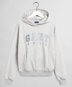 Gant Teen Girls 1949 Hoodie Light Grey Melange
