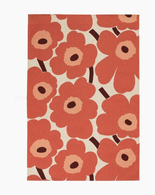 Marimekko Pieni Unikko Kitchen Towel 47x70cm Orange
