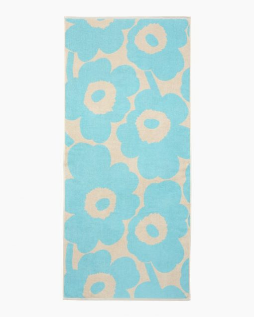 Marimekko Unikko Bath Towel 70 x 150 cm Light Blue