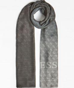 Guess Alisa Jacquard Scarf Grey Multi