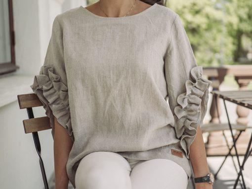 Pura Linen Swan Top Linen