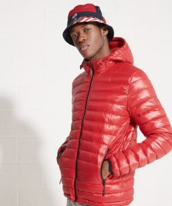 Superdry Shine Hooded Fuji Jacket Rouge Red