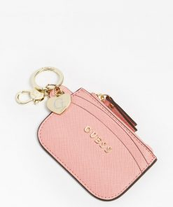 Guess Card Case Keyring Pink