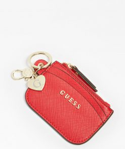 Guess Card Case Keyring Red
