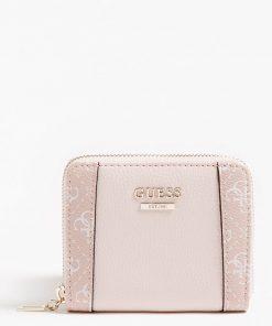 Guess Naya Small Ziparound Wallet Multi Pink