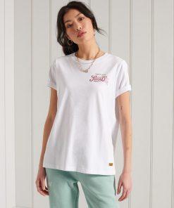 Superdry Glitter Sparkle T-Shirt Optic