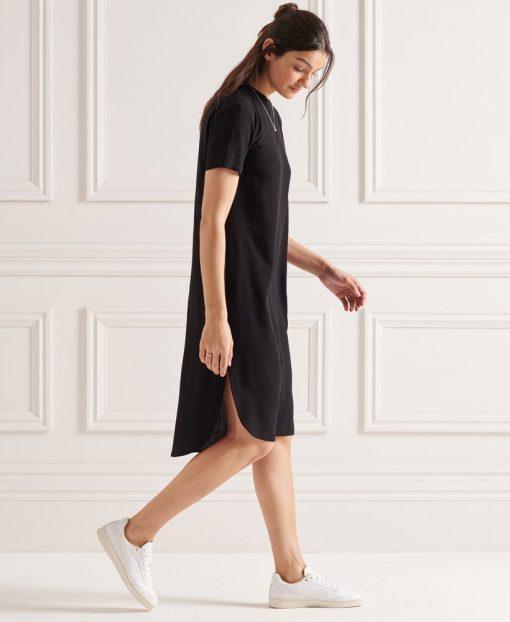Superdry Curve Hem Shift Dress Black