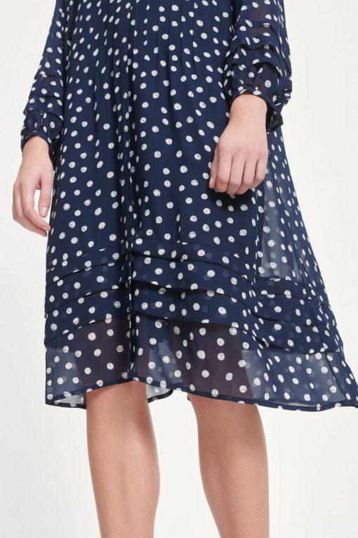 Samsoe & Samsoe Elma Shirt Dress Blue Doodle Dot