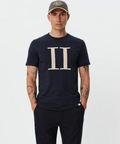Les Deux Encore Bouclé T-Shirt Dark Navy