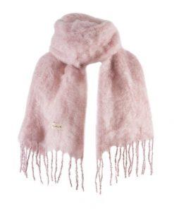 Balmuir Aurora Kid Mohair Scarf Silver Pink