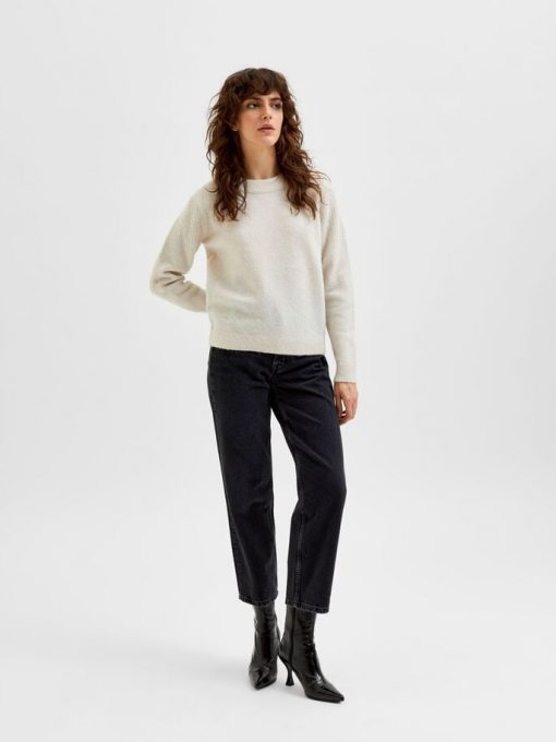 Selected Femme Sia Knit Snow White