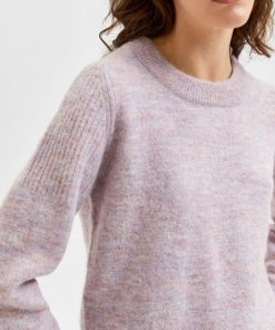 Selected Femme Sia Knit Chalk Pink