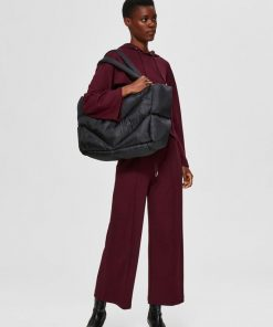 Selected Femme Clara Quilt Maxi Blab Black