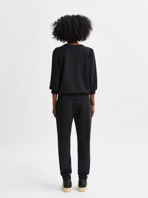 Selected Femme Tenny Sweat Black