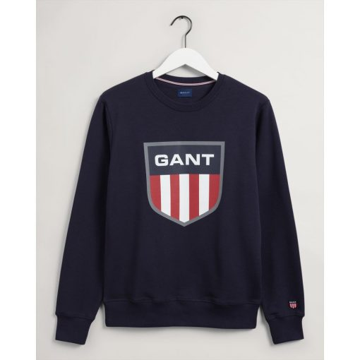 Gant Retro Shield Crew Neck Sweatshirt Evening Blue