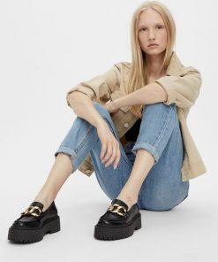 Bianco Biadeb Chain Loafer Black