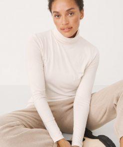 Part Two Efinas Rollneck T-shirt Whitecap Gray