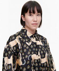 Marimekko siivekäs Musta Tamma shirt Black