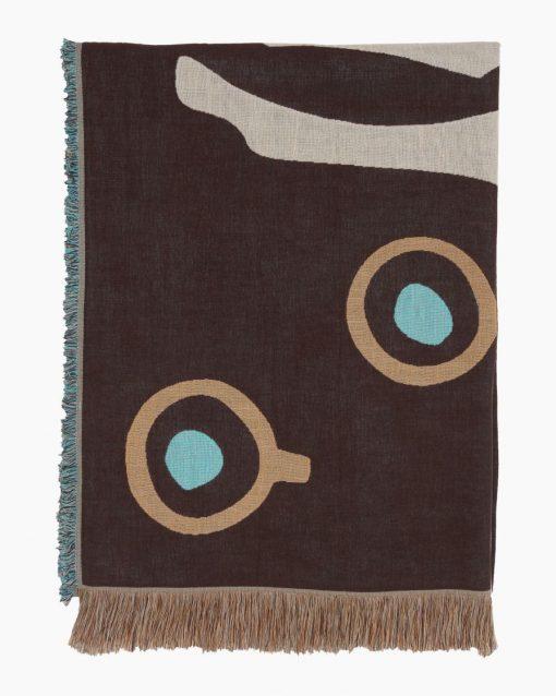 Marimekko Musta Tamma Throw 130 x 180 cm