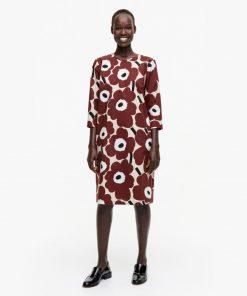 Marimekko Havaittu Pieni Unikko Dress Brown