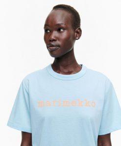 Marimekko Kapina Logo T-shirt Blue