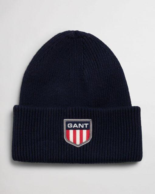 Gant Retro Shield Beanie Evening Blue