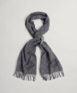 Gant Woman Igonic G Wool Scarf Antracit Melange
