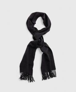 Gant Solid Wool Scarf Black