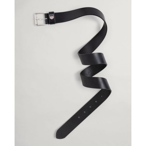 Gant Retro Shield Leather Belt Black