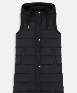 Rino & Pelle Hooded Waistcoat Black